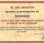 Nubeser recibe un reconocimiento por su contribución a la formación de nuevos talentos