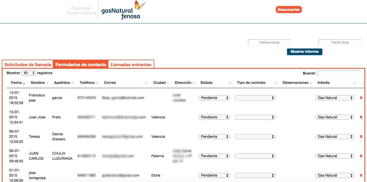 Desarrollo backend&&en_ciudad&& para registro de contactos de clientes