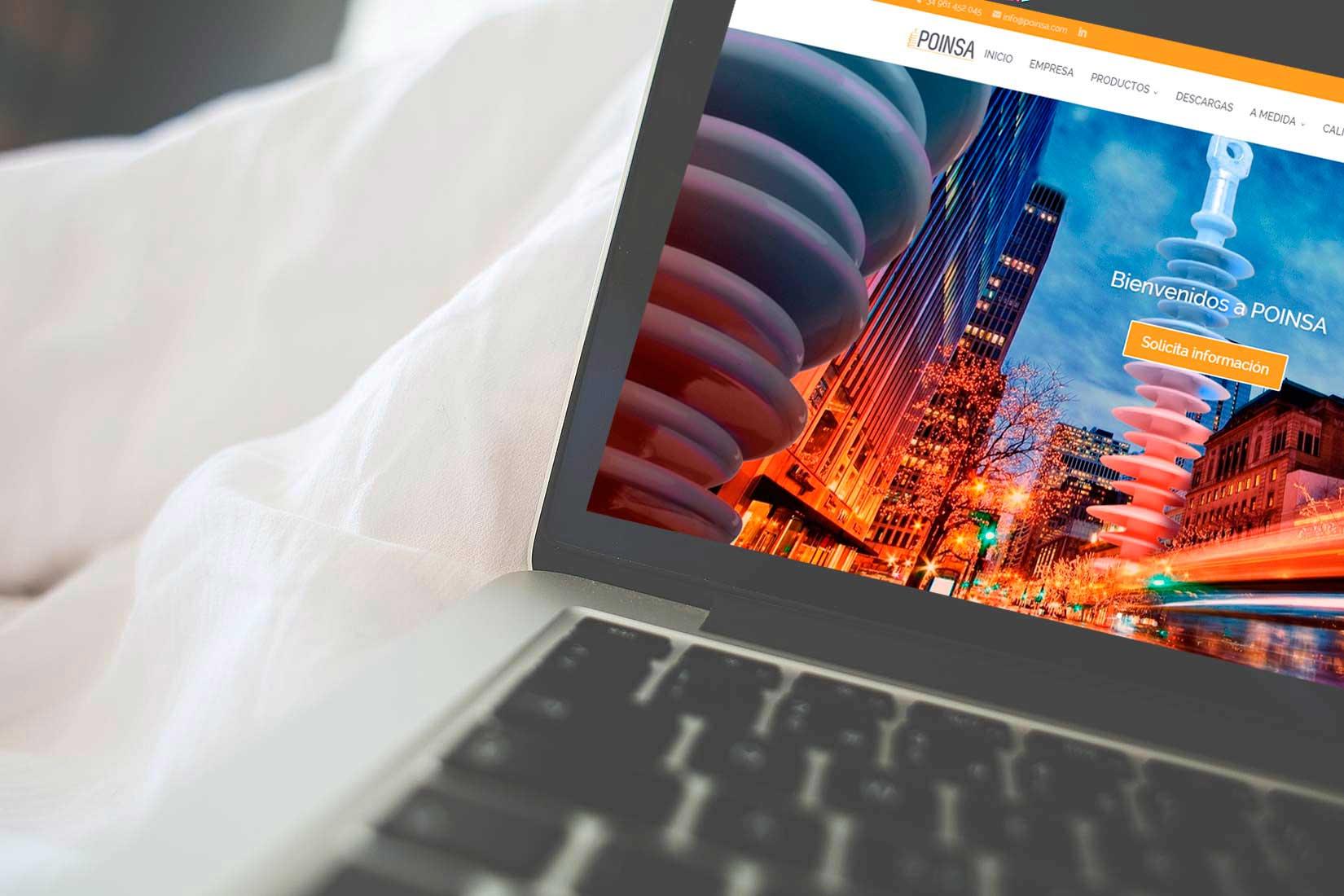 Poinsa: Diseño Wordpress Corporativo&&ciudad&& y Optimización SEO