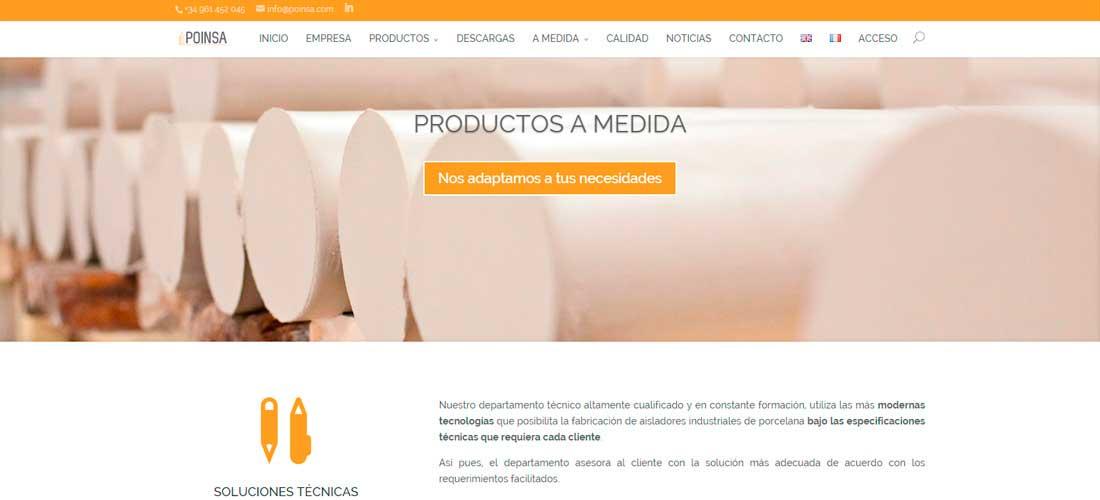 Poinsa: Diseño corporativo en CMS Wordpress&&ciudad&&. Desarrollo web&&ciudad&&. Posicionamiento SEO&&ciudad&&.