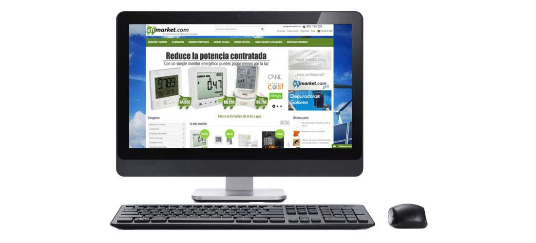 Efimarket: Mantenimiento web&&ciudad&&. Mejora arquitectura web. Tienda Online Magetno&&ciudad&&.