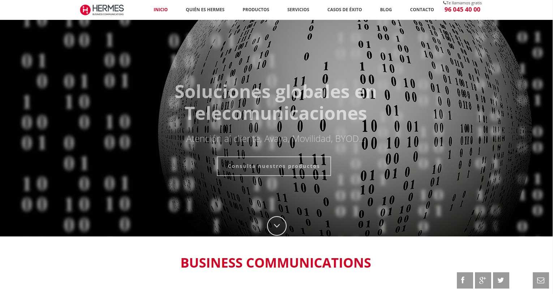 Hermes ingeniería: Diseño web&&ciudad&&. Diseño página web corporativa&&ciudad&&.