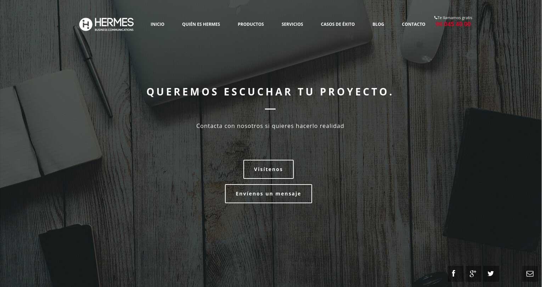 Hermes ingeniería: Diseño web&&en_ciudad&&. Diseño página web corporativa&&en_ciudad&&.