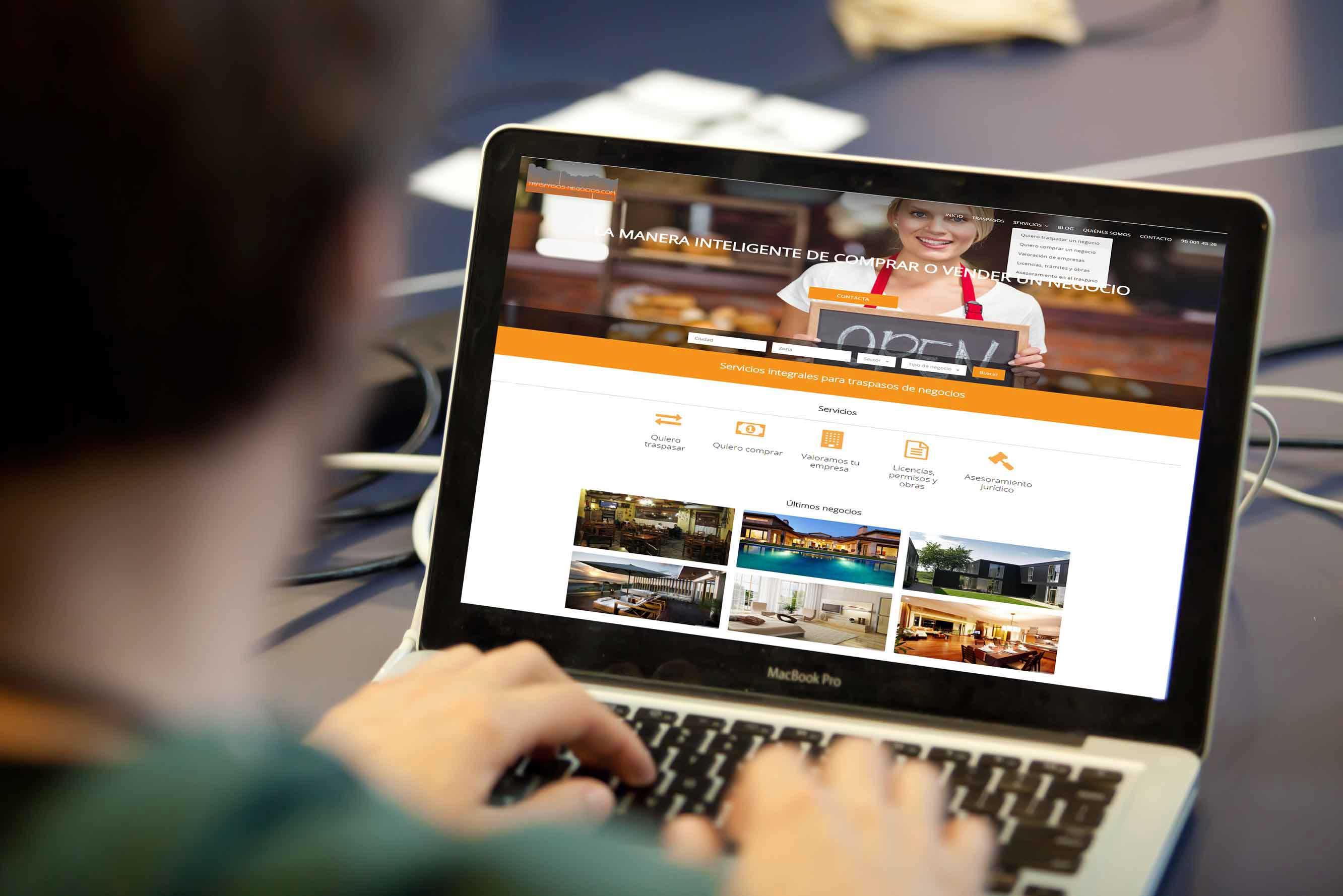 Desarrollo web Wordpress&&ciudad&&: Traspasos y negocios