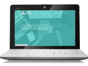 Oficina por Oficina por horas: Diseño web corporativo y posicionamiento SEO. vista portatil