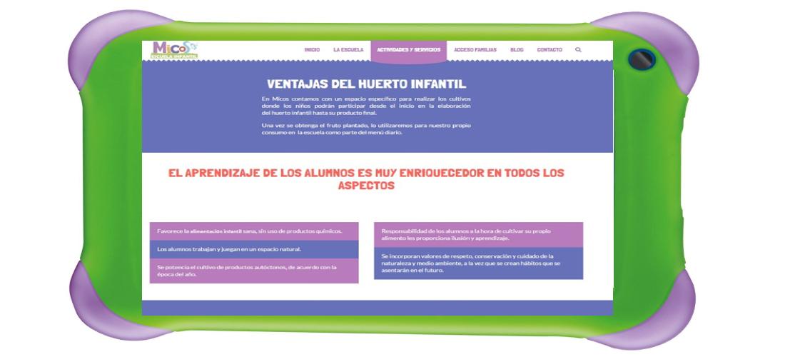 Escuela Infantil Micos: Desarrollo web wordpress&&en_ciudad&&, posicionamiento SEO&&ciudad&&, campañas SEM&&ciudad&&, Google Adwords&&en_ciudad&& y diseño gráfico&&ciudad&& de identidad corporativa.