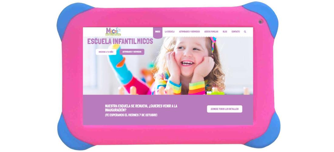Escuela Infantil Micos: Desarrollo web corporativa&&ciudad&&, posicionamiento SEO&&ciudad&&, campañas SEM, Google Adwords&&ciudad&& y diseño identidad corporativa.