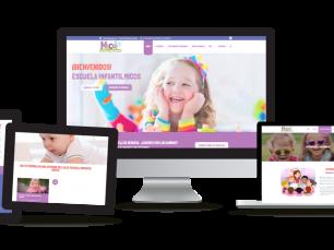 Escuela Infantil Micos: Desarrollo web corporativa, posicionamiento SEO, campañas SEM, Google Adwords y diseño identidad corporativa.