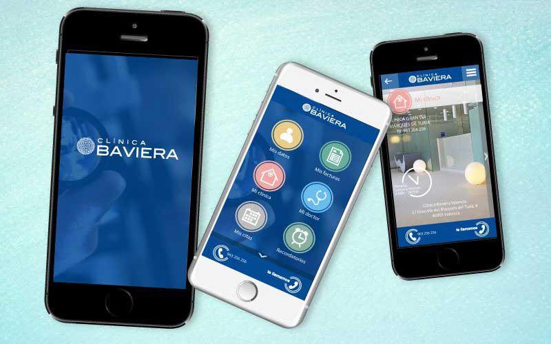 App Baviera: Diseño gráfico y diseño de apps móviles