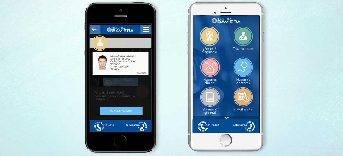 App Baviera: Diseño de apps móviles&&ciudad&&. Diseño gráfico&&en_ciudad&& e identidad corporativa.