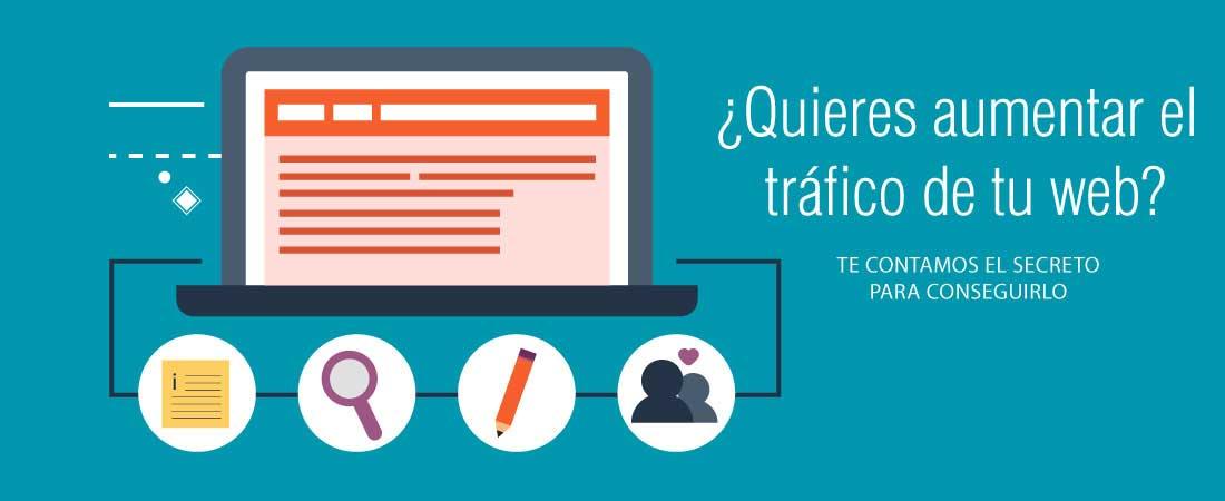 El secreto para aumentar el tráfico web en marketing online