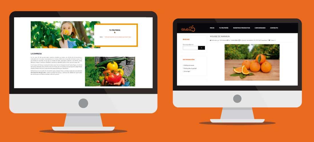 Desarrollo tienda online Valencia fruteria