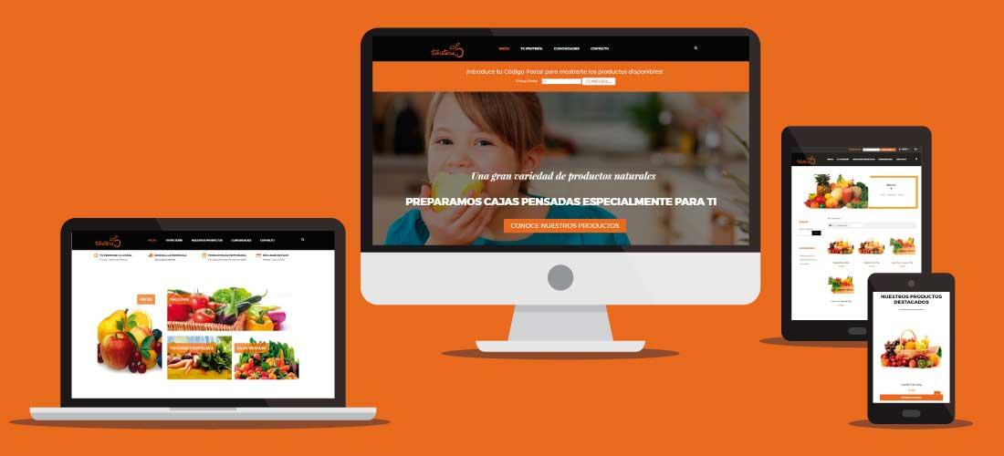 Desarrollo tienda online en Valencia fruteria