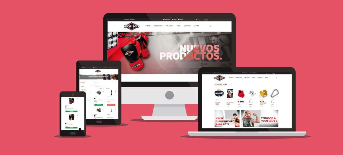 Rude Boys: Diseño tienda online Prestashop. Desarrollo tienda onlie.