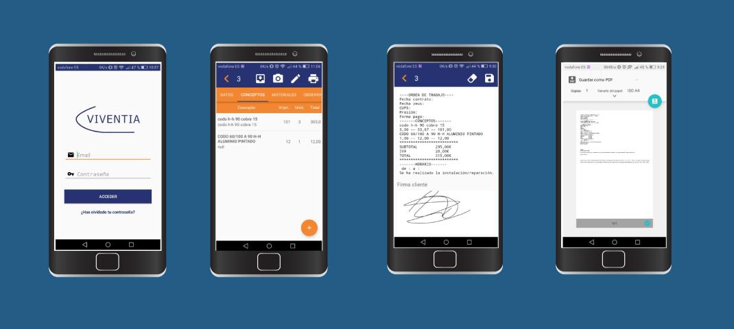 Viventia: Desarrollo Software de gestión para PYMES&&ciudad&& y App Móvil