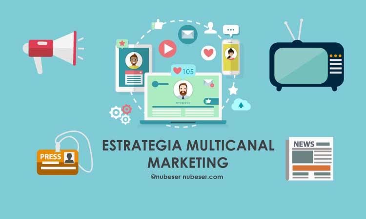Estrategia multicanal en marketing online.
