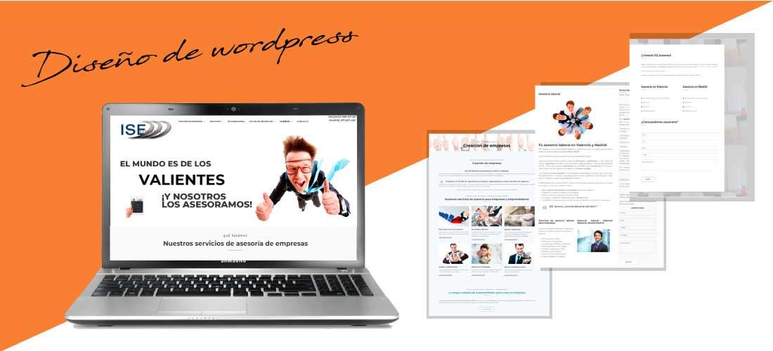 ISE Asesores: Diseño web Wordpress&&ciudad&&. Rediseño página web corporativa.
