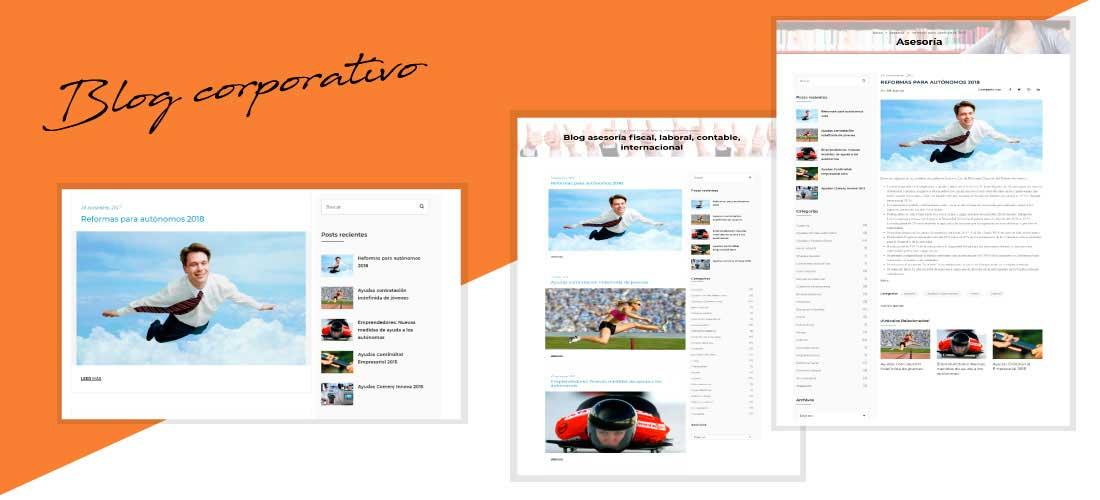 ISE Asesores: Desarrollo web Wordpress&&ciudad&&. Rediseño página web corporativa.