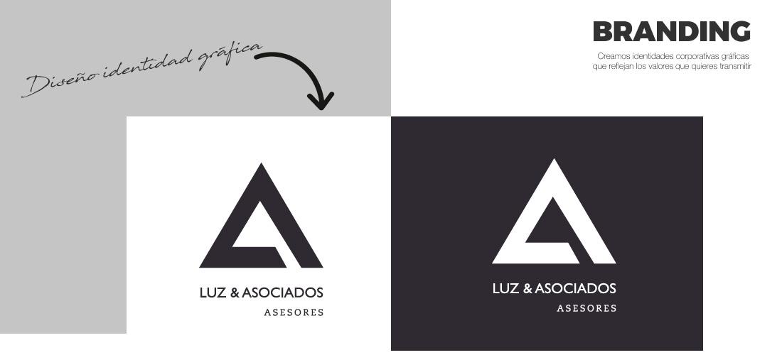 Luz Asociados: Diseño gráfico&&ciudad&&. Diseño de identidad corporativa&&en_ciudad&&. Diseño logotipo e isotipo.