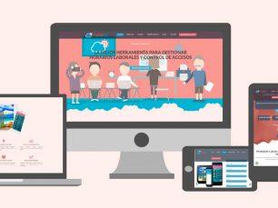 Nubelist: Diseño y desarrollo de páginas web. Diseño web Wordpress de web corporativa de una herramienta de gestión de empresas.