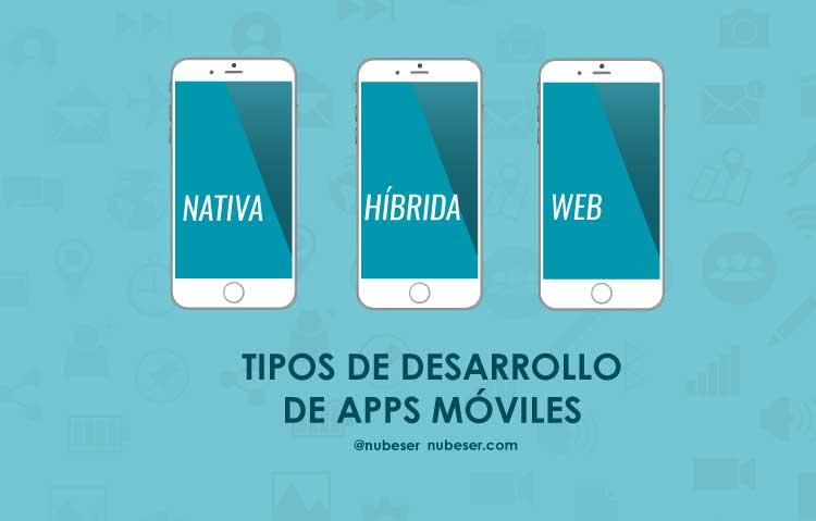 Tipo de desarrollos apps móviles.: Híbridas, webs y nativas. Características para elegir la forma optima de desarrollar tu app movil