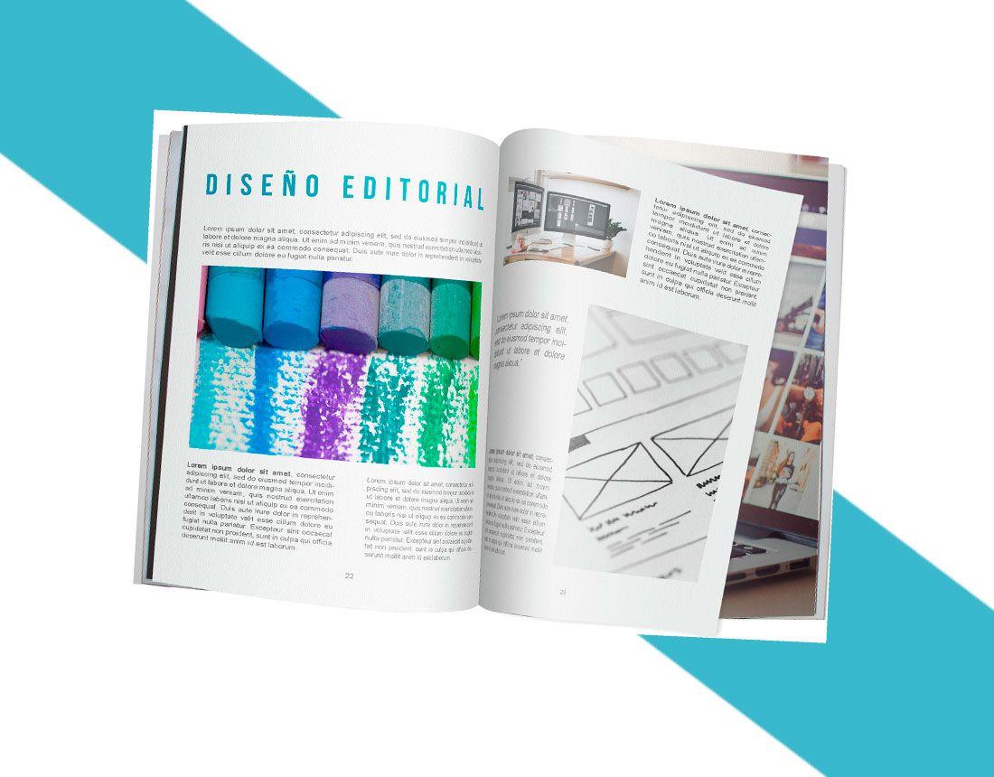 Diseño editorial por tu agencia de diseño gráfico