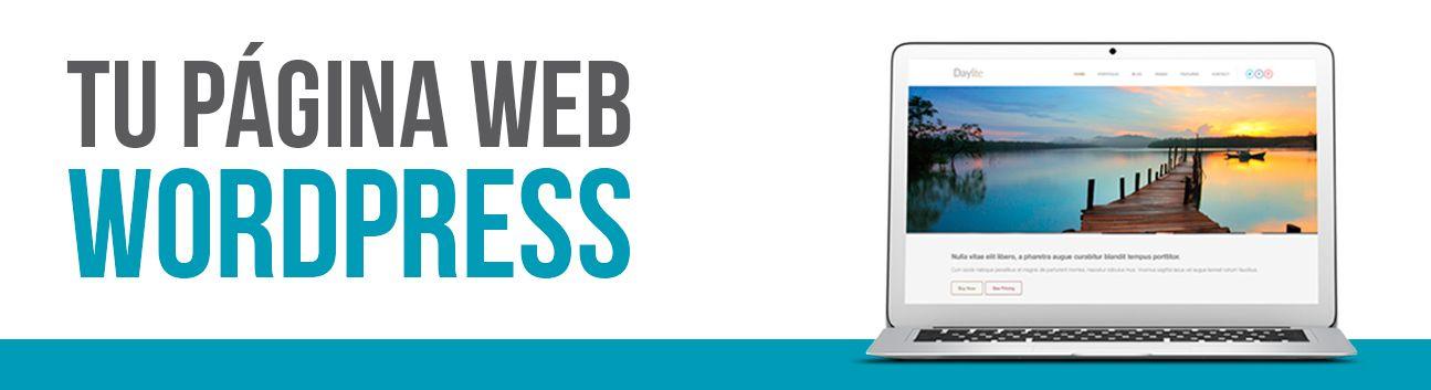 Desarrollo profesional wordpress. Diseño página web wordpress.