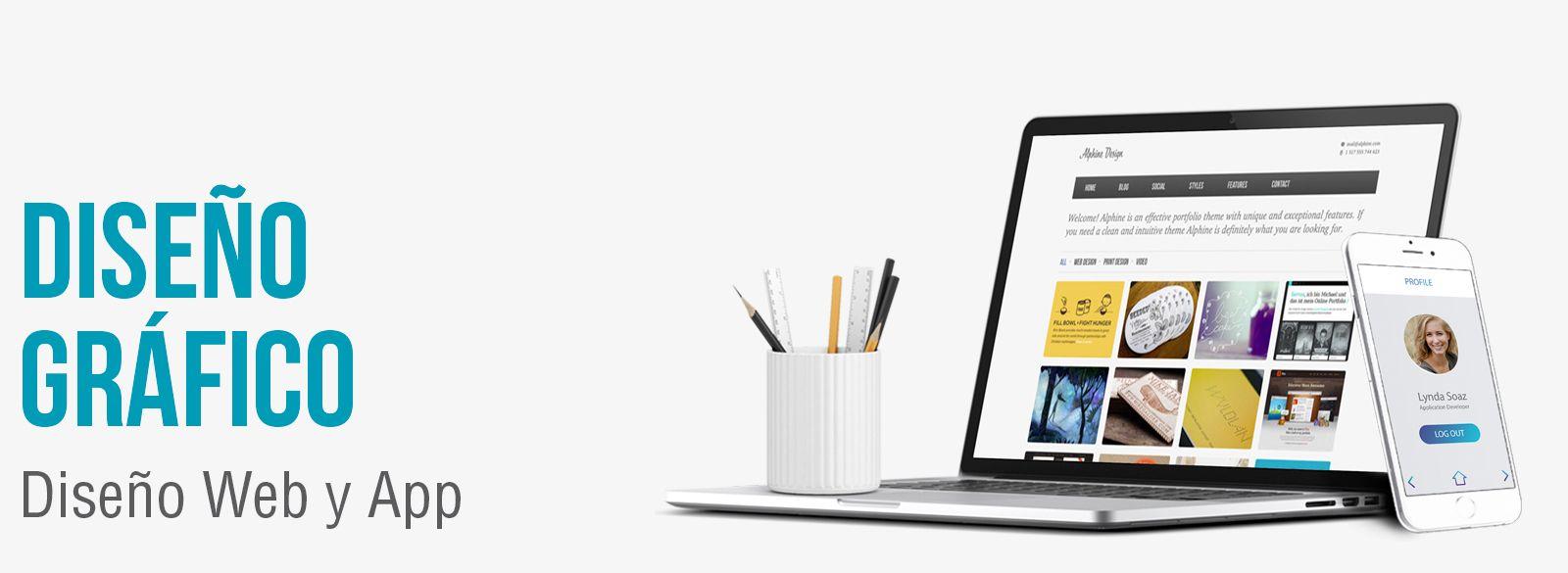 Diseño gráfico para páginas web y apps. Diseño gráfico aplicaciones móviles