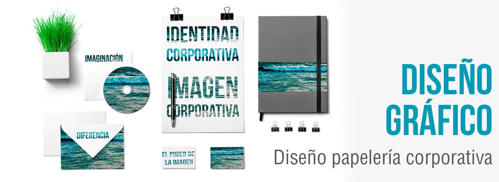 Diseño papelería corporativa. Diseño gráfico papelería.