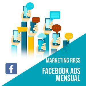 Plan Marketing Redes Sociales: Plan de gestión Facebook Ads para empresas mensual. Gestión redes sociales. Publicidad digital.