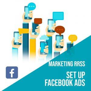 Plan Marketing Redes Sociales: Set Up Facebook Ads. Plan de gestión Facebook para empresas. Gestión redes sociales.