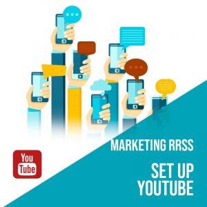 Plan Marketing Redes Sociales Madrid: Set Up Youtube. Plan de gestión Youtube para empresas. Gestión redes sociales Madrid.