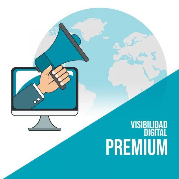Plan Visibilidad Digital Premium: Publicación en redes sociales, marketing de contenidos y publicidad digital.