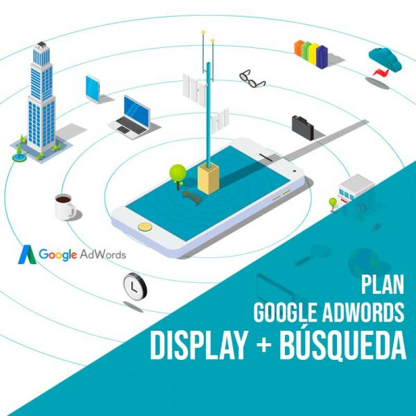 Plan Google Adwords display y búsqueda. Gestión Google Adwords en red busqueda y display