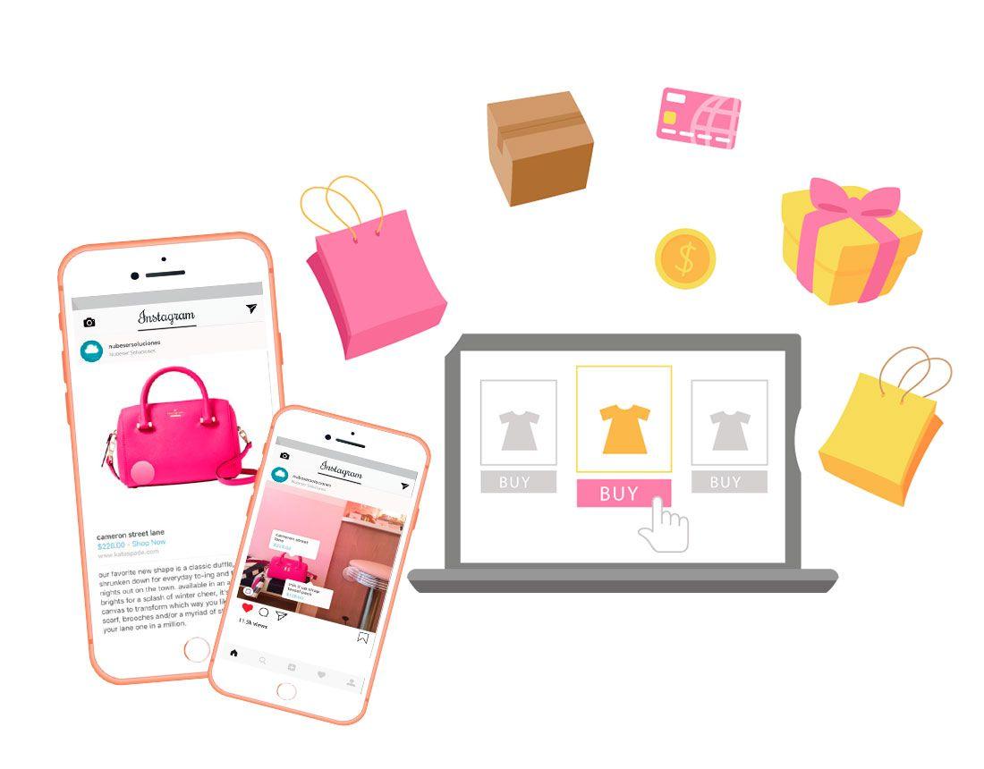 Gestión redes sociales Instagram Shopping, funcionalidad de compra directa en Instagram.