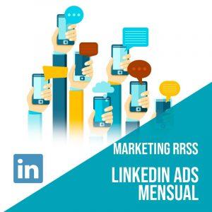 Plan Marketing Redes Sociales: Plan de gestión Linkedin Ads para empresas mensual. Gestión redes sociales. Publicidad digital.