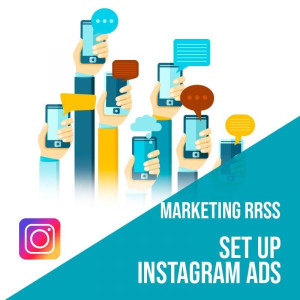 Plan Marketing Redes Sociales: Set Up Instagram Ads. Plan de gestión Instagram para empresas. Gestión redes sociales.