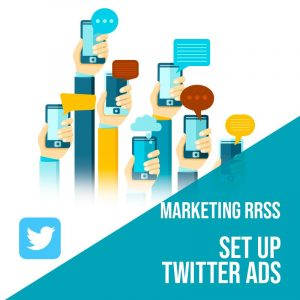 Plan Marketing Redes Sociales: Set Up Twitter Ads. Plan de gestión Twitter para empresas. Gestión redes sociales. Publicidad digital.