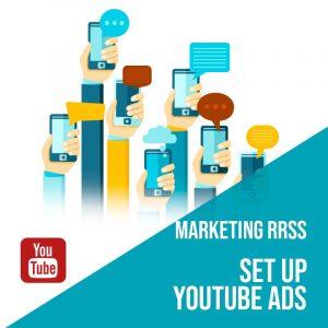 Plan Marketing Redes Sociales Madrid: Set Up Youtube Ads. Plan de gestión Youtube para empresas. Gestión redes sociales Madrid. Publicidad digital en Madrid.