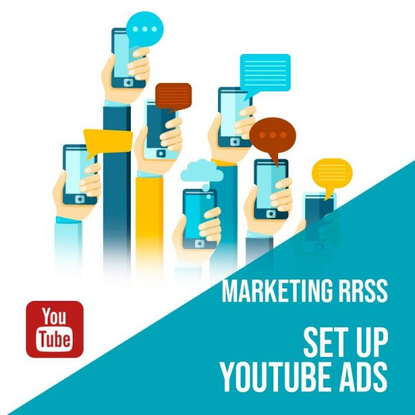 Plan Marketing Redes Sociales: Set Up Youtube Ads. Plan de gestión Youtube para empresas. Gestión redes sociales. Publicidad digital.