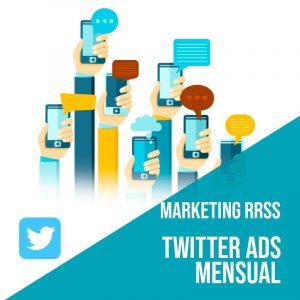 Plan Marketing Redes Sociales: Plan de gestión Twitter Ads para empresas mensual. Gestión redes sociales. Publicidad digital.