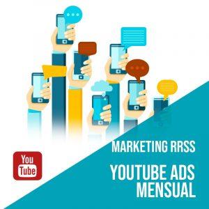 Plan Marketing Redes Sociales: Plan de gestión Youtube Ads para empresas mensual. Gestión redes sociales. Publicidad digital.