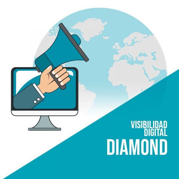 Plan Visibilidad Digital Diamond: Publicación en redes sociales, posicionamiento sem, posicionamiento seo, marketing de contenidos y publicidad digital.