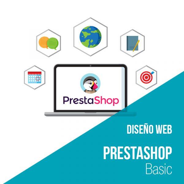 Plan diseño web prestashop Basic. Empresa desarrollo web y diseño web.
