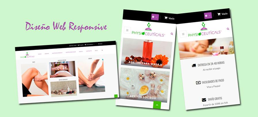Diseño tienda online Prestashop&&en_ciudad&&: Physioceuticals