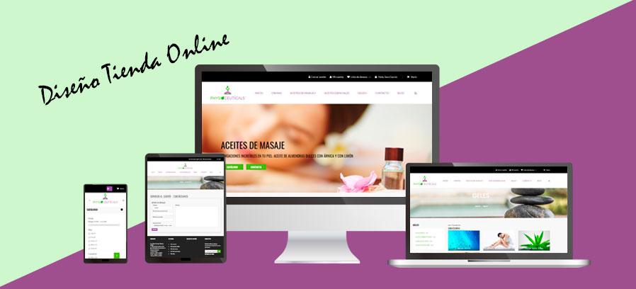 Diseño tienda online Prestashop: Physioceuticals