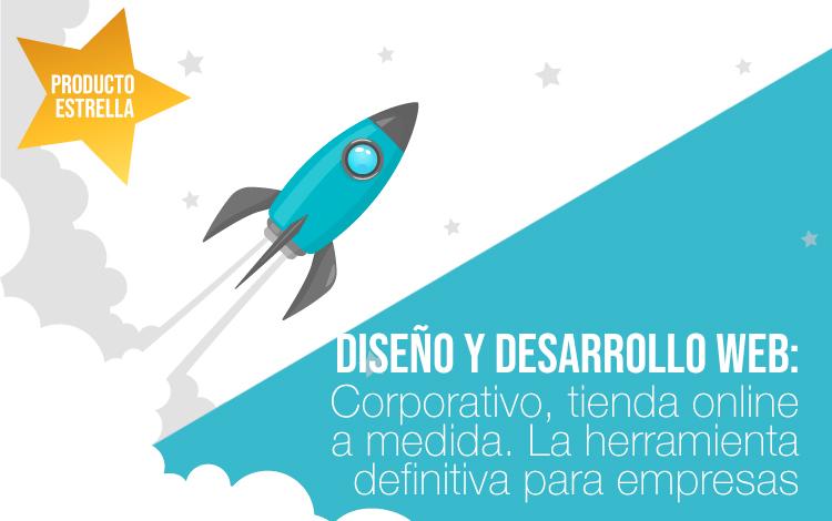 Diseño web corporativo. Diseño de tienda online. Desarrollo web a medida ¿Cuál prefieres?