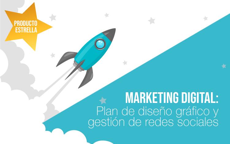 Agencia Marketing digital: Plan de diseño gráfico para redes sociales y gestión de redes sociales para empresas.