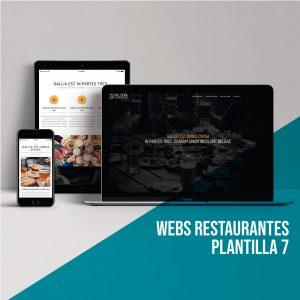 Diseño páginas webs restaurantes: Plantilla 7.