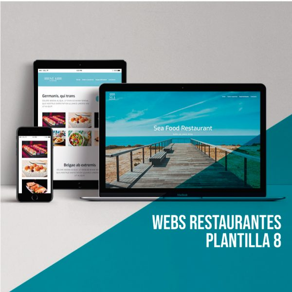 Diseño de páginas para restaurantes: Plantilla 8.